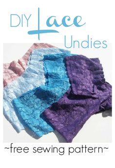 DIY Lace Undies - When it comes to thrifty, learning how to make underwear is a huge money-saver. These DIY Lace Undies offer several benefits. Not only do they cost a fraction of what lace underwear does in the store, they're easy to make as well. This tutorial on how to make underwear lets you skip the sometimes embarrassing shopping trips and privately create a fitting and feminine article in your own home.
