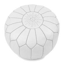 Moroccan Pouffe White