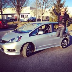 """Someone's excited! #newusedcar #honda #hondafit #fitty #phew"" Photo taken by @keerahlee on Instagram, pinned via the InstaPin iOS App! http://www.instapinapp.com (04/01/2015)"