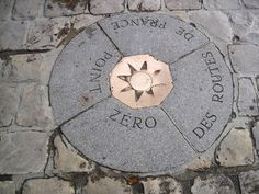 Located on the front of the Notre Dame, this is the point from which all distances are measured in France.