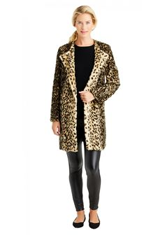 Beige/Black Leopard Coat by J.McLaughlin