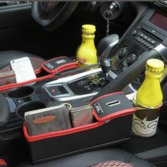 Leather Car Storage Bag Box Money Pot Beverage Holder Car Seat Pocket Organizer Sale - Banggood.com
