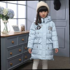 52.99$  Watch now - http://alifp1.worldwells.pw/go.php?t=32707328783 - 2016 Casual Girls Winter For Girls Jacket Children's Fur Collar Outerwear Down Jacket Girl Winter Coat Thick Warm Parkas 52.99$