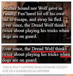 This might be why BioWare didn't give us a Mabari! The revelation should excite me but I'm still just sad lol