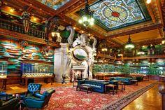 """Blick in die """"Kathedrale"""" des Jachtsports: Im Model Room des New York Yacht Clubs in Manhattan werden 1700 Modelle von Rennjachten gehütet."""