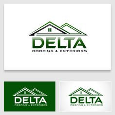 Delta Roofing & Exteriors - A creative roofing design that will make people look twice and inspire confidence in my company. Roofing, window and siding contractor. Specializing in storm damage restoration work. Construction Logo Design, Custom Logo Design, Logo Design Contest, Atari Logo, Confidence, Inspire, Logos, Creative, People