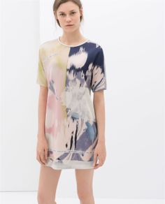 CONTRASTING PRINTED DRESS from Zara