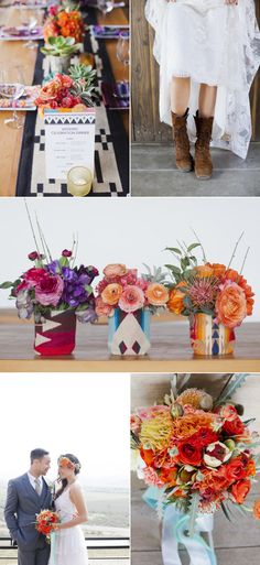 Modern Mexican Wedding Inspiration - Style Me Pretty