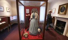 Clothes and accessories worn by Charlotte Bronte on display in her old bedroom at the Bronte Parsonage Museum on February 2012 in Haworth, England. The famous Bronte sisters lived at Haworth Parsonage from 1820 to 1861 in the West Riding of Yorkshire. Charlotte Bronte Jane Eyre, Emily Bronte, Bronte House, Bronte Parsonage, Bronte Sisters, Lovers And Friends, Classic Literature, Historian, Inspiration