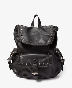 Studded Faux Leather Backpack | FOREVER21 - 1046229691