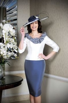 Occasion collection by Ian Stuart for the discerning mother of the groom / mother of the bride. Stand out from the crowd with a beautiful Ian Stuart dress. Ivory Dresses, Navy Blue Dresses, Dresses With Sleeves, Bride Dresses, Bride Groom Dress, Groom Outfit, Short Fitted Dress, Fitted Bodice, Ian Stuart