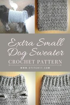 Extra Small Dog Sweater Crochet Pattern Here s a comfy crocheted sweater for yo Extra Small Dog Sweater Crochet Pattern Here s a comfy crocheted sweater for your little furry dog I m sure they will look good on this cute Chat Crochet, Pull Crochet, Crochet Diy, Crochet Coat, Crochet For Dogs, Crochet Sweaters, Crochet Dog Sweater Free Pattern, Dog Coat Pattern, Crochet Dog Patterns