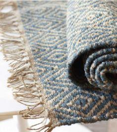 blue diamond jute rug.