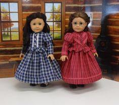 Mary & Laura LHOTP custom American Girl dolls by CupcakeCutiePie Ag Doll Clothes, Doll Clothes Patterns, Doll Patterns, Custom American Girl Dolls, American Girl Clothes, American Girls, Frozen Dolls, Girls Characters, Girl Outfits