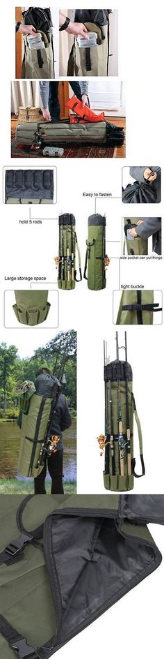 1.2m Long Fishing Rod Holdall Bag Carry Case Luggage Roll Up Bag for 12 Rods