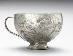 Lion Hunting Cup, 1100-1000 BC                                                Northwestern Iran, Amlash, 12th-11th century BC