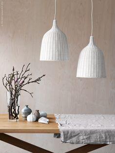 LERAN lyser upp våren   Livet Hemma – IKEA Ikea Inspiration, Interior Inspiration, Ikea Table, I Love Lamp, Ikea Home, Ikea Kitchen, Beautiful Interiors, Home Lighting, Furniture Decor