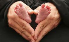 heart baby feet