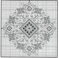 Blackwork Cross Stitch, Biscornu Cross Stitch, Blackwork Embroidery, Cross Stitch Tree, Just Cross Stitch, Cross Stitch Flowers, Cross Stitching, Cross Stitch Embroidery, Embroidery Patterns