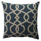 Found it at AllModern - <strong>Pillow Perfect</strong> Lattice Damask Cotton Pillowhttp://www.allmodern.com/Pillow-Perfect-Lattice-Damask-Cotton-Pillow-512-PWP2714.html?refid=SBP.rBAZEVQ4gteXZ3ZD38-TAlpkfcgxDkYgl6UgiA_r3To