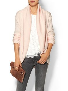 Cozy pink + a touch of lace