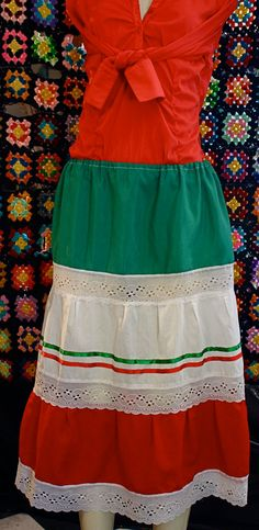 Mexican colored hand made skirt by dianasore on Etsy, $9.99