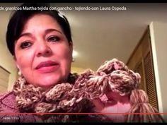 Cómo tejer una flor - hacer una bufanda - Tejiendo con Laura Cepeda - YouTube