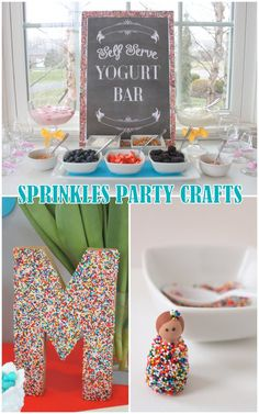 Mirabelle Creations: {Tutorials} -- Sprinkles Party Crafts
