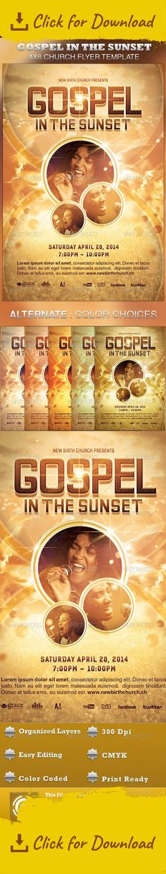 gospel meeting flyer template