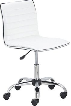 a7d569d586 BTEXPERT 5029w BTExpert Swivel Mid Back Armless Ribbed Designer Task Chair  Leather soft upholstery Office Chair