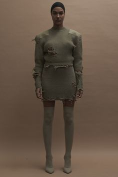 Yeezy Fall 2016 Ready-to-Wear Fashion Show - Um, like the dog ate my dress. That's cool, right?