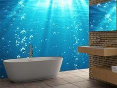 captivating tropical touches living room | under sea fish aquarium tropical coral reef mural- neat ...