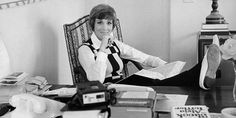 70's Julie Andrews in her office