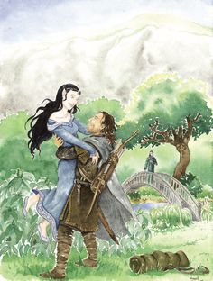 Return to Imladris: Aragorn and Arwen - Anna K. Aragorn And Arwen, Arwen Undomiel, Elven Princess, Tolkien Books, Book Characters, Fictional Characters, Middle Earth, Lord Of The Rings, Lotr