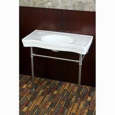"Duchess Vitreous 34"" Bathroom Sink with Pedestal"