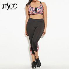 Soft Side Mesh Patchwork Lounge Leggings Women Contrast Print Fitness Movement Cropped Legging Plus Size Trousers 5XL 6XL