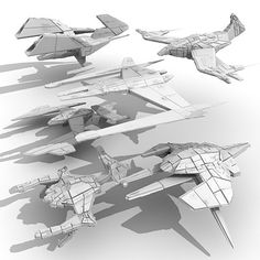 Free 3D sci-fi space ship model collection.   This collection contains 6 concept ships.