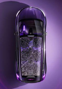 car map purple  http://www.carbodydesign.com/2013/09/renault-initiale-paris-concept/