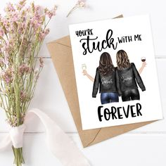 Birthday Cards For Girlfriend, Birthday Cards For Friends, Sister Birthday, Funny Birthday Cards, Happy Birthday, Sister Cards, Mothers Day Cards, Valentine Day Cards, Best Friend Cards