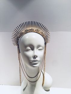 A personal favorite from my Etsy shop https://www.etsy.com/listing/613553663/gold-headdress-heavenly-bodies-goddess