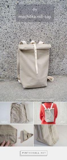 DIY Mochilita roll-top   Fábrica de Imaginación DIY   Backpack roll-top