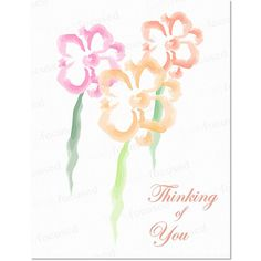 NOTE CARDS  Mother's Day  Thinking of You  BLANK  by FinelyFocused