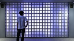 Color Kinetics Japan and RANAGRAM researched and developed together on an interactive facade. We set approximately 1,000 LED lamps on the back of an iron lattice installed on the 4 x 2.5 m wall. Indirect lighting can make subtle visual patterns by employing the reflection of light to the wall. Geometric patterns that change shapes as time goes by and animations that is based on a sound spectrum are generated by using Perlin noise. You can change the density and color of patterns by using…