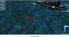 Sunken NME Cargo ship (arrowed)