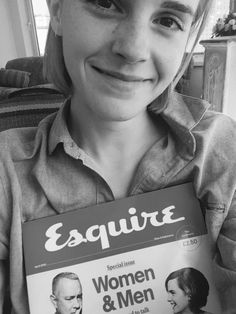 Emma Watson shared the news on Twitter. She's with Tom Hanks on the cover for Esquire UK (April 2016)