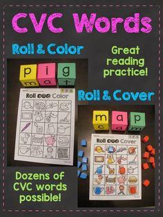 Miss Giraffe's Class: CVC Words Roll