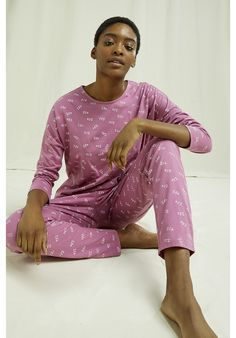 Lightweight, organic and breathable nightwear trousers. This comfortable pyjama collection is printed with an intricate ZZZ design and made from the softest 100% GOTS certified organic cotton in violet shade–perfect for lounging or sleeping. Made by People Tree Fair Trade producer partner Assisi. Sleepwear & Loungewear, Nightwear, Cotton Pjs, Bamboo Socks, Fair Trade Fashion, Pj Sets, Sustainable Fashion, Pajama Set, Lounge Wear