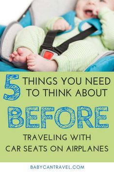 Flying with a Baby or Toddler? Here are 5 things you need to think about BEFORE traveling with car seats on airplanes! We also include ways to travel without car seats! Toddler Car, Toddler Travel, Travel With Kids, Family Travel, Gentle Parenting, Kids And Parenting, Parenting Hacks, Traveling With Baby, Traveling By Yourself