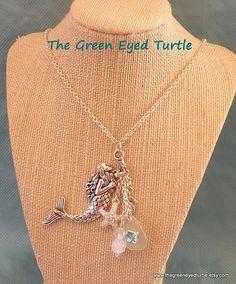 Mermaid Necklace by TheGreenEyedTurtle on Etsy