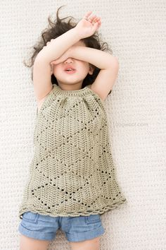 Summer Diamonds Toddler Dress. Written pattern and diagram                                                                                                                                                                                 More
